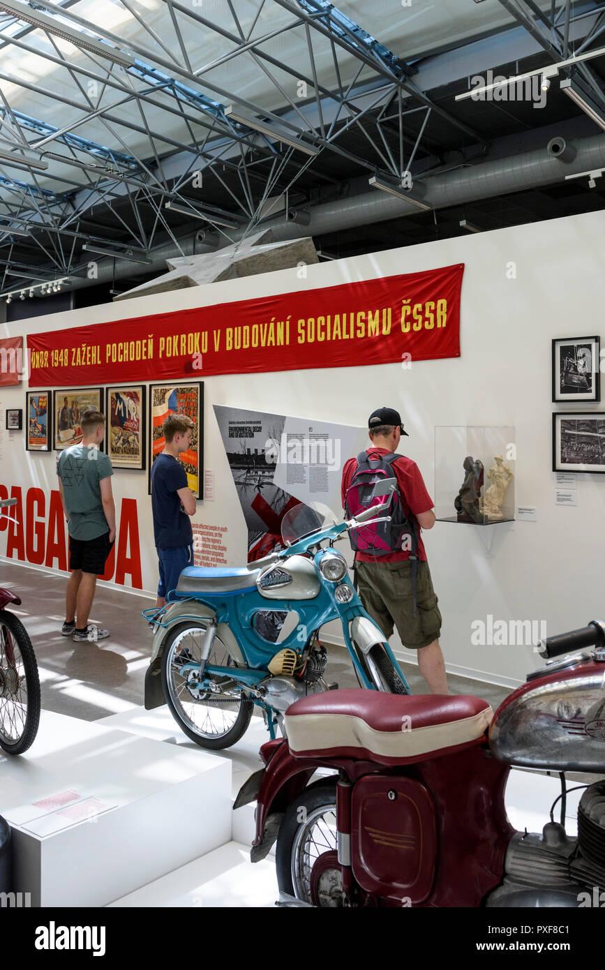 Prague. Czech Republic. Museum of Communism (Muzeum komunismu), (Stará Celnice), V Celnici 1301/4, Prague 1 / Square of the Republic (náměstí Republik - Stock Image