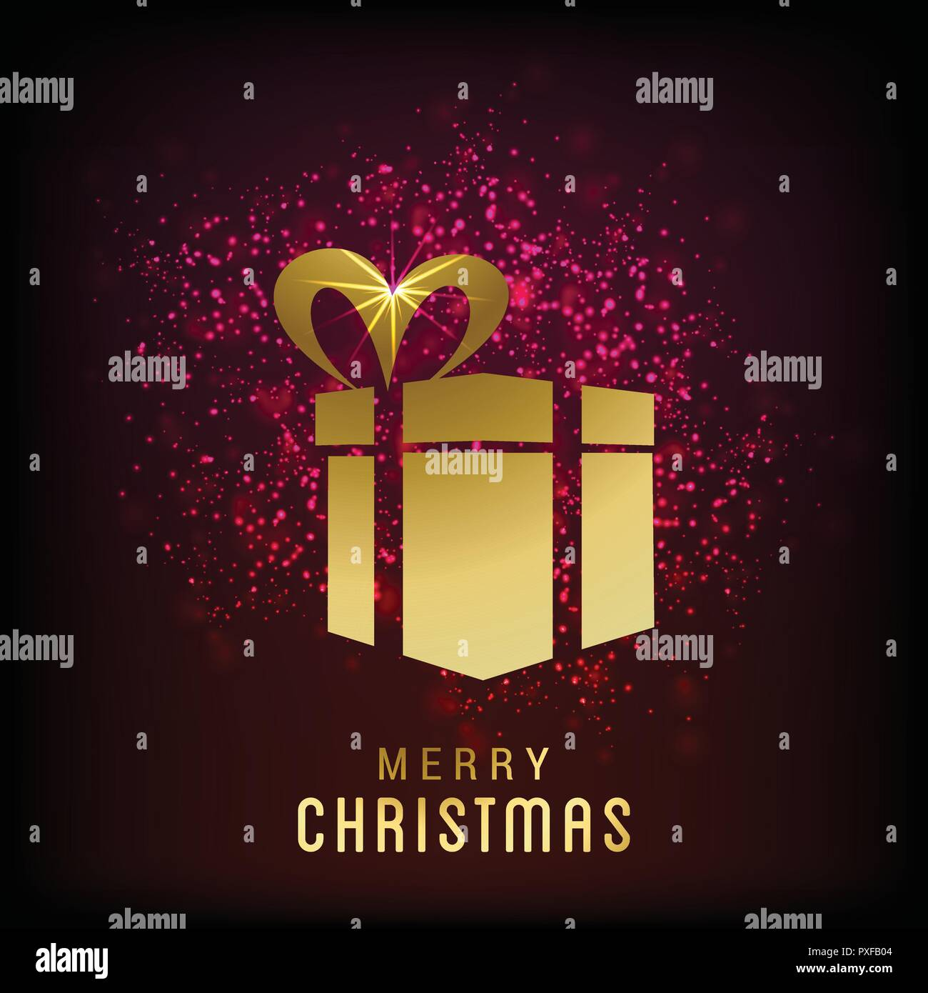 Merry Christmas cards with creative design vector Stock Vector Art ...