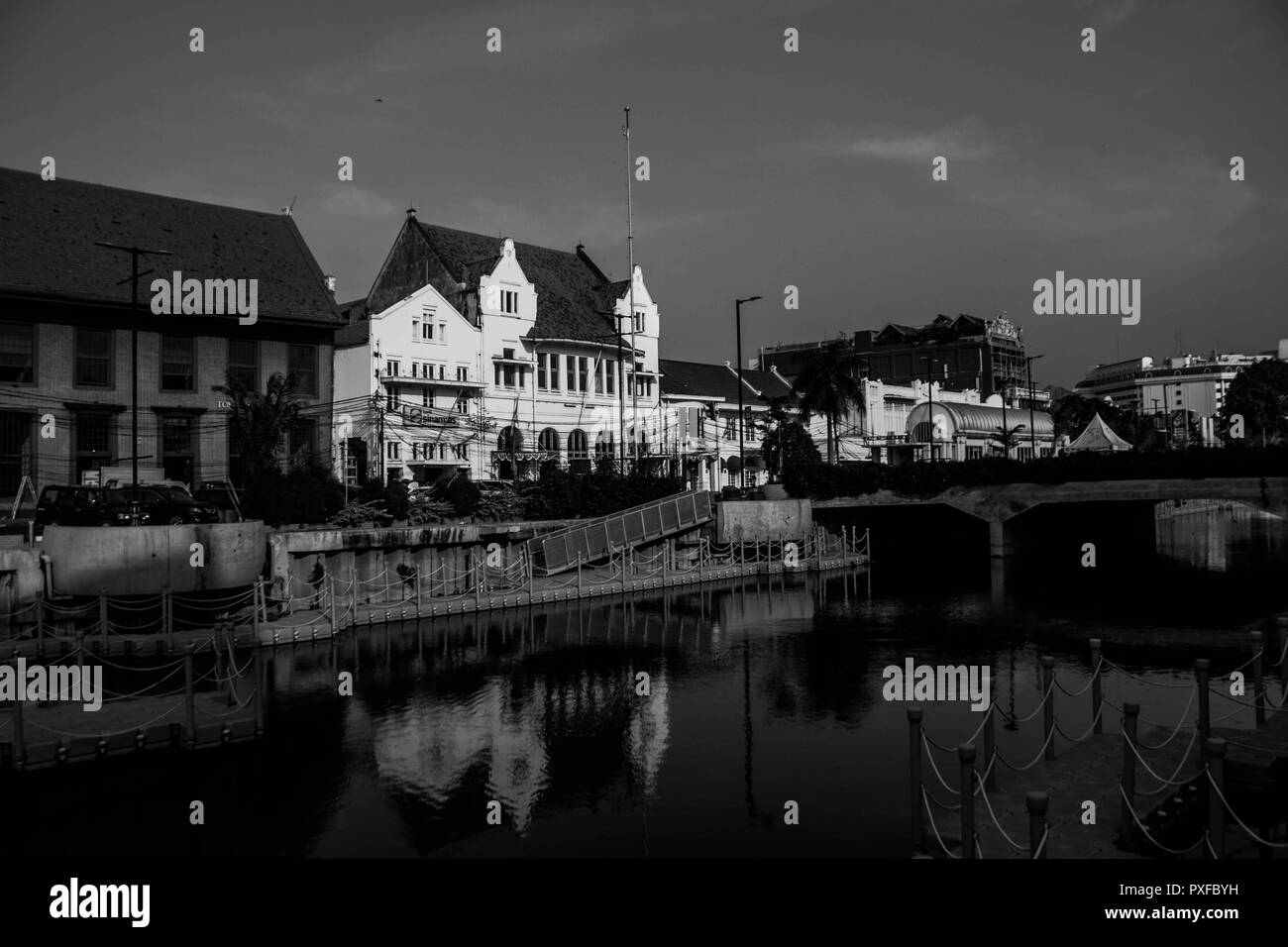 Old town Batavia - Stock Image