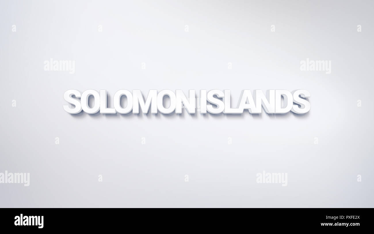 Solomon Islands, text design. calligraphy. Typography poster. Usable as Wallpaper background - Stock Image