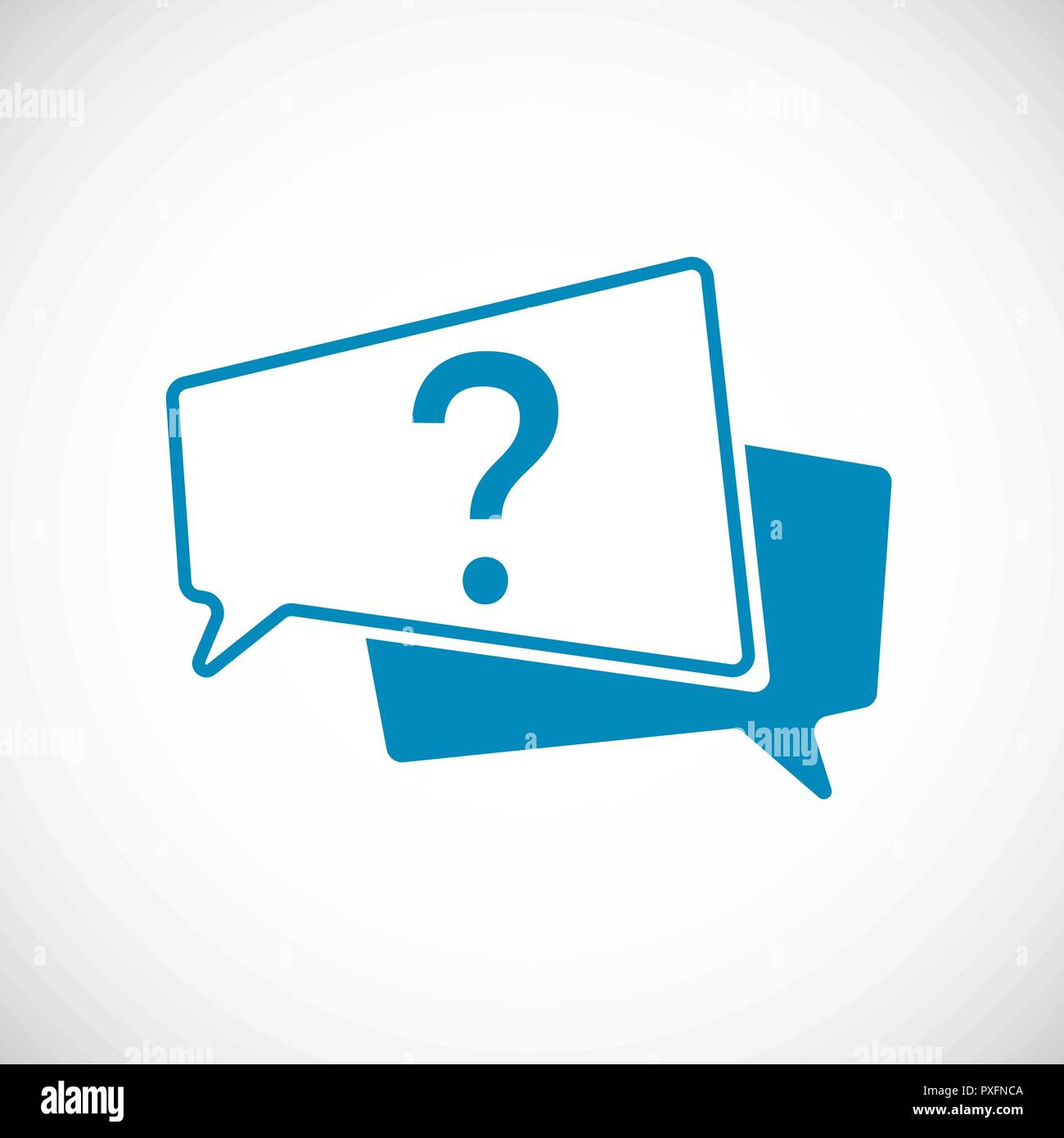 ec1f850c Question Mark as Speech Bubble Web Icon. Element of web icon for mobile  concept and web apps. Vector illustration