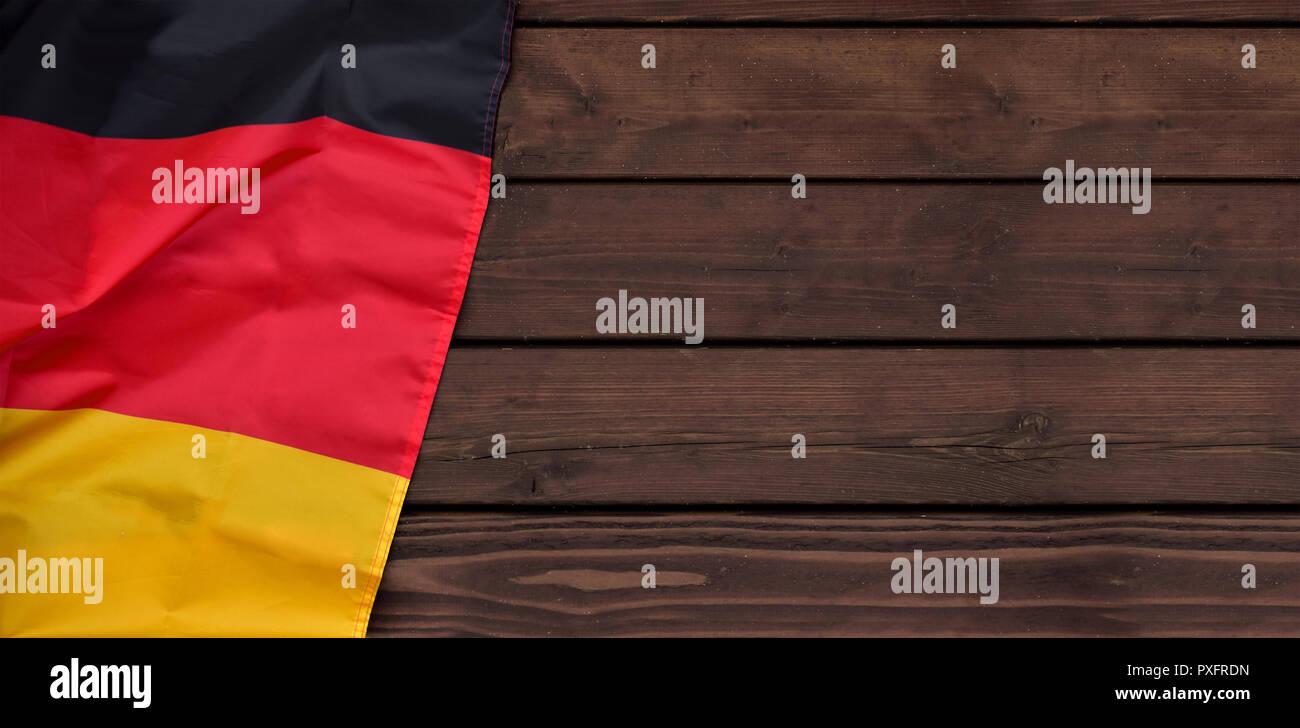 banner flag germany german patriotism black red gold - Stock Image