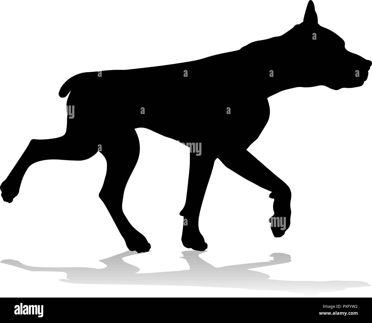 Dog Silhouette Pet Animal - Stock Image