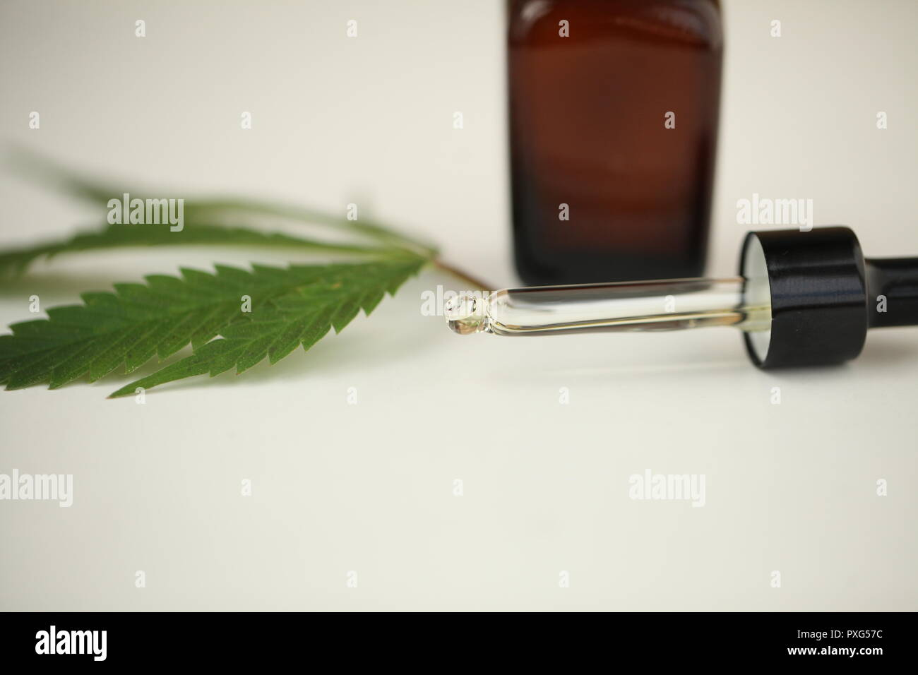 oil hemp products medical cannabis Stock Photo