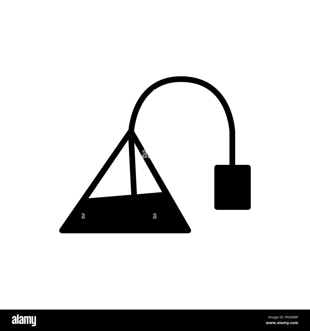 Teabag tea bag simple flat style vector icon. - Stock Image