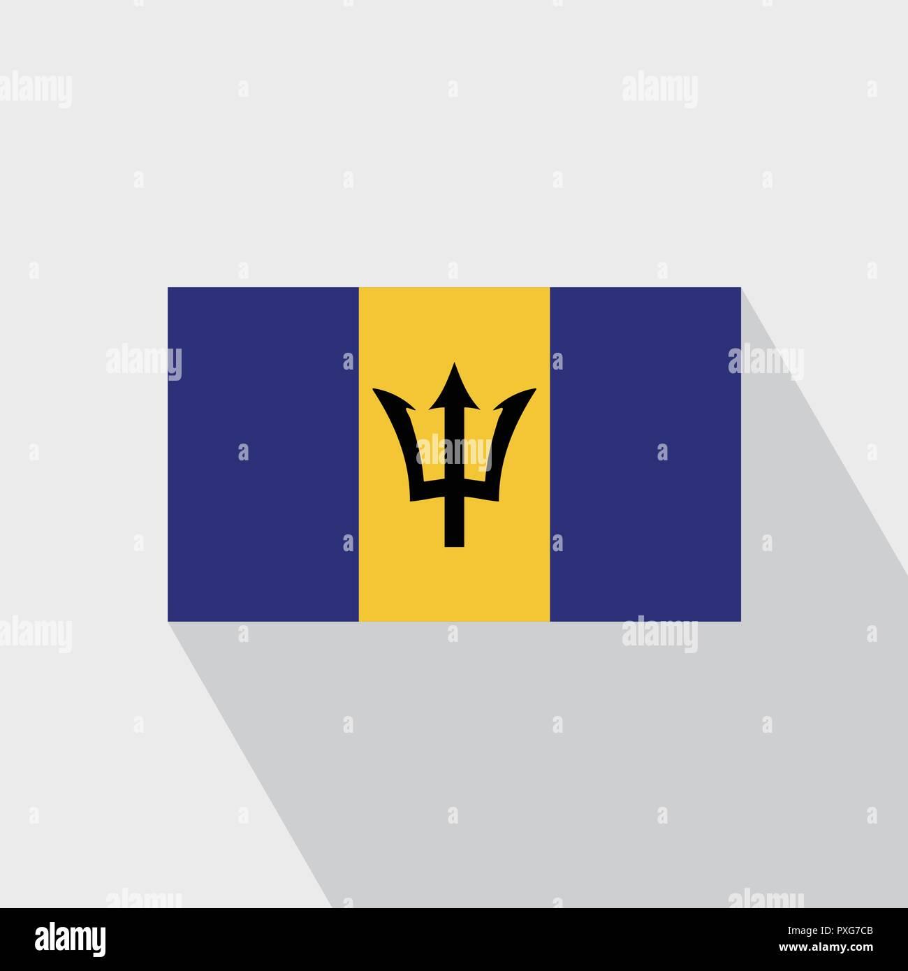 Barbados flag Long Shadow design vector - Stock Vector