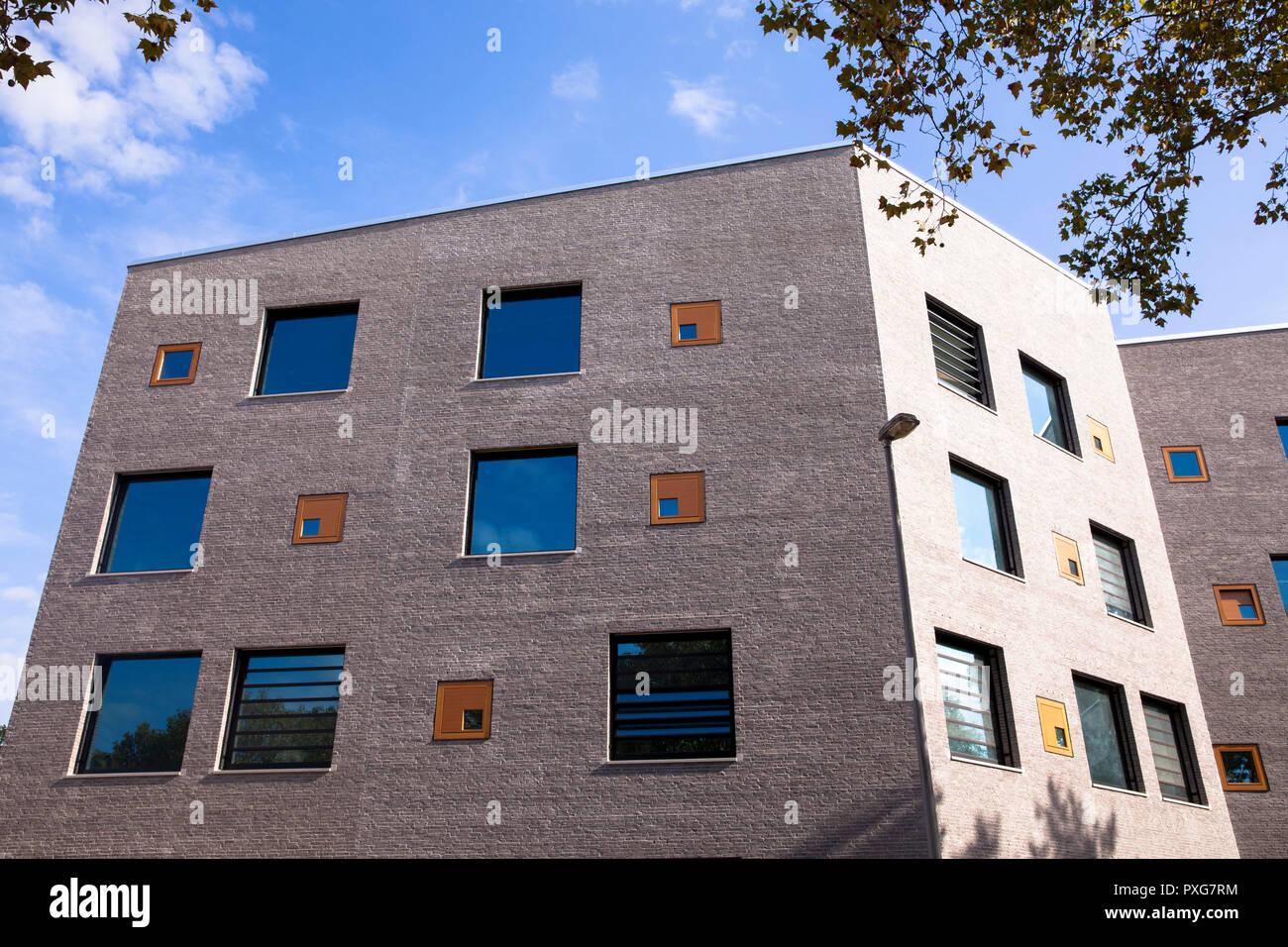 building of the school campus Bildungslandschaft Altstadt Nord (BAN) near the Klingelpuetz park, architect Gernot Schulz, Cologne, Germany.  Gebaeude  - Stock Image