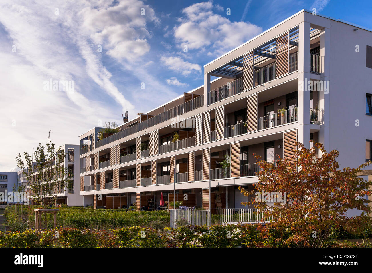 apartment building Clouth 11 in the Clouth quarter in the district Nippes, Schulte architects, Cologne, Germany.   Mehrfamilenhaus im Clouth 11 im Clo Stock Photo