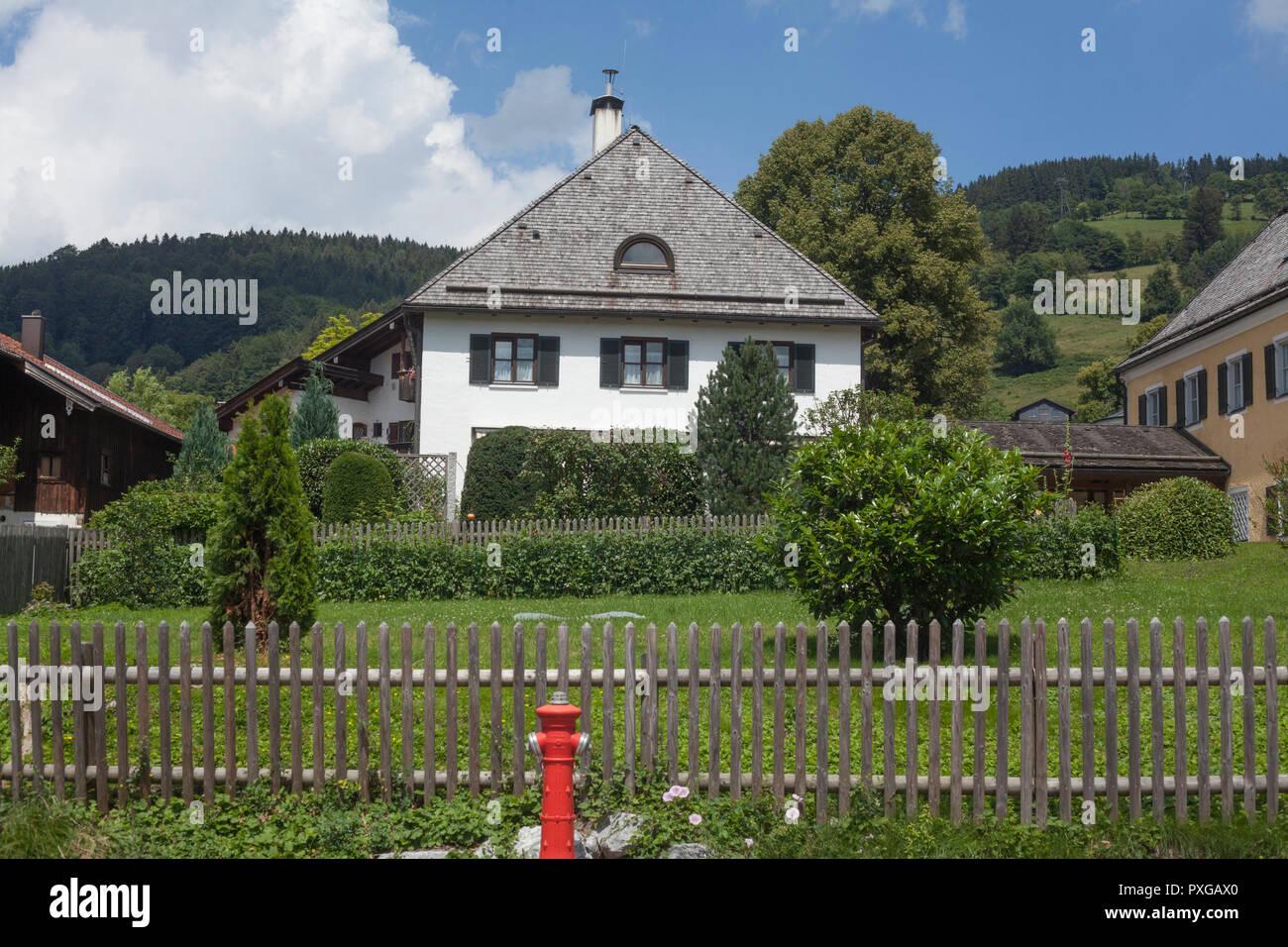 Residential house, Schliersee, Upper Bavaria, Bavaria, Germany, Europe  I Wohnhaus, Schliersee, Oberbayern, Bayern, Deutschland, Europa I - Stock Image