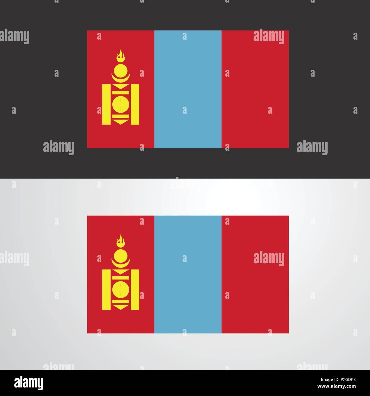 Mongolia Flag banner design - Stock Vector