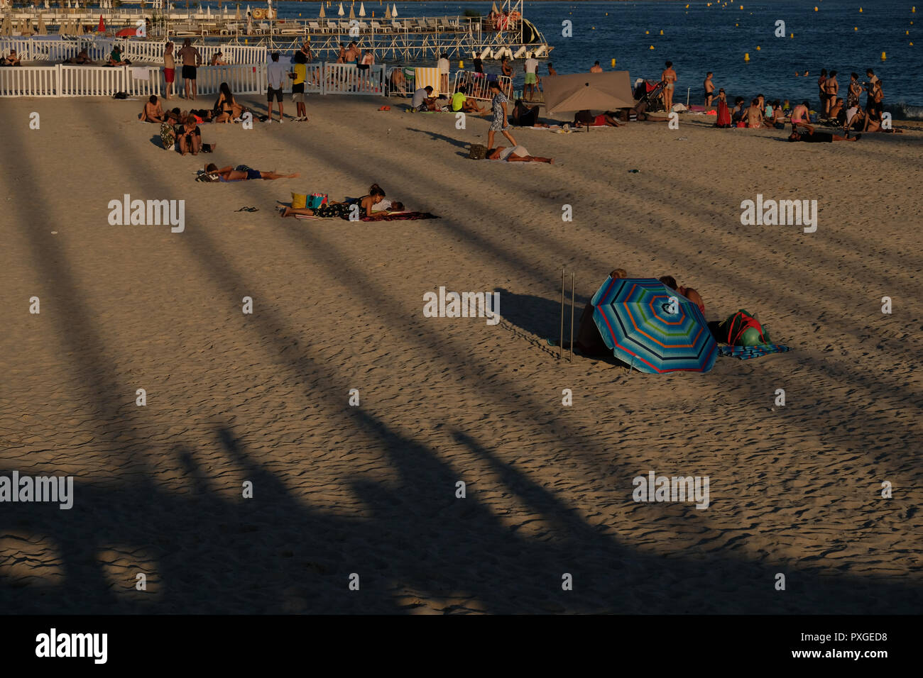 The Cannes beach, France - Stock Image