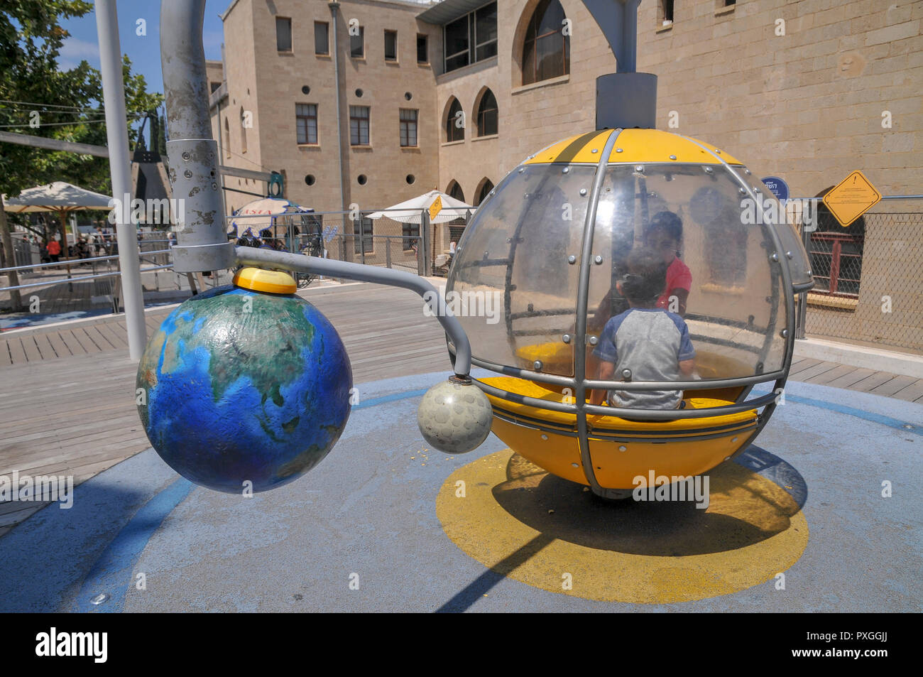 Madatech, Israeli National Museum of Science Technology and Space, Haifa, Israel Solar system exhibit Stock Photo