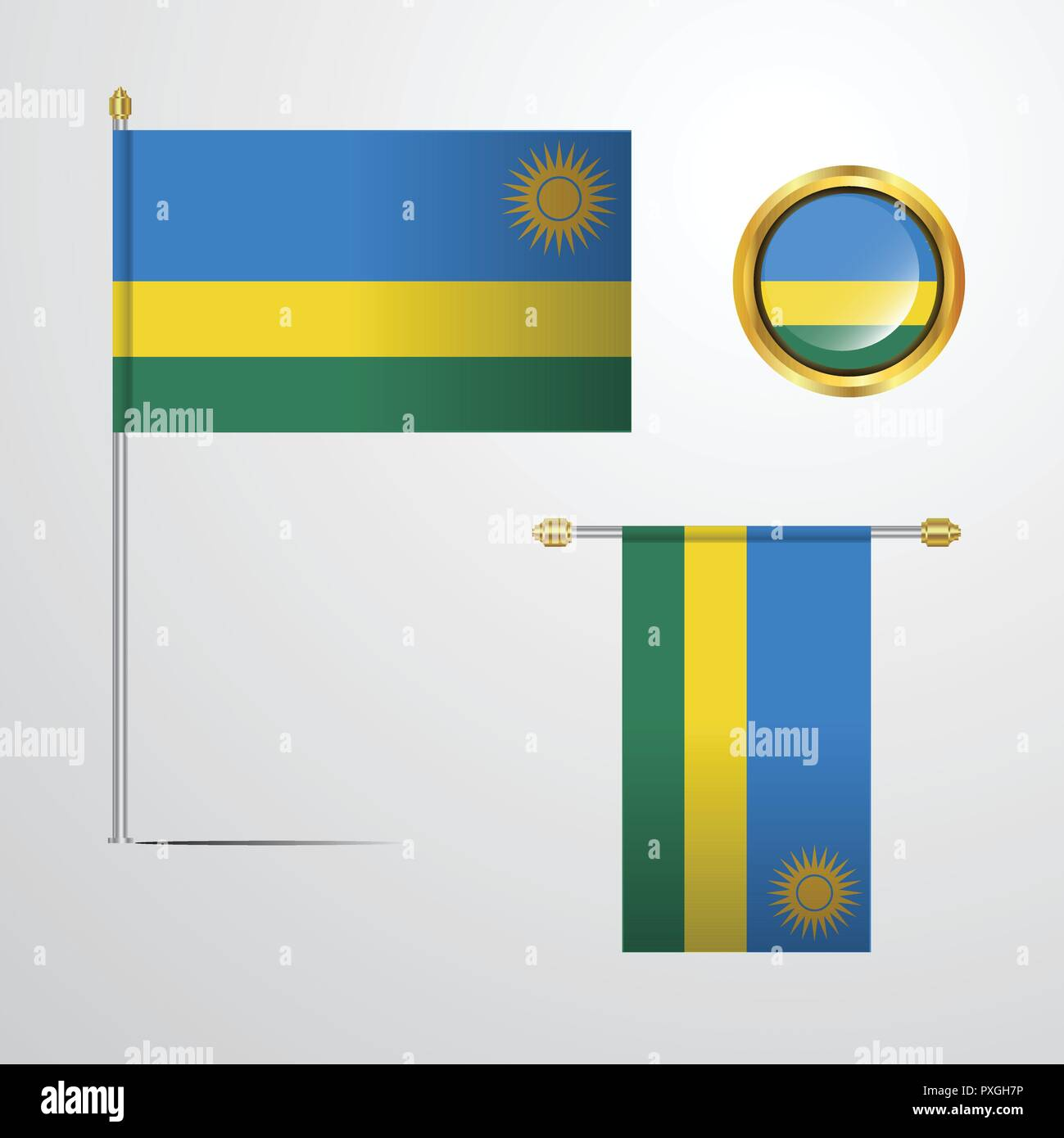 Rwanda - Stock Vector