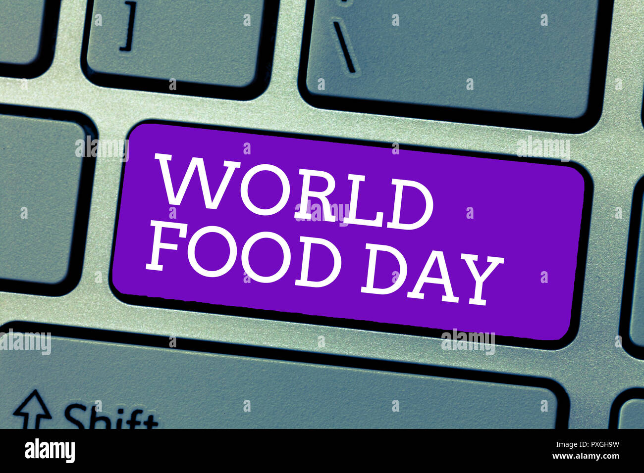 Word writing text World Food Day. Business concept for World day of action dedicated to tackling global hunger. - Stock Image