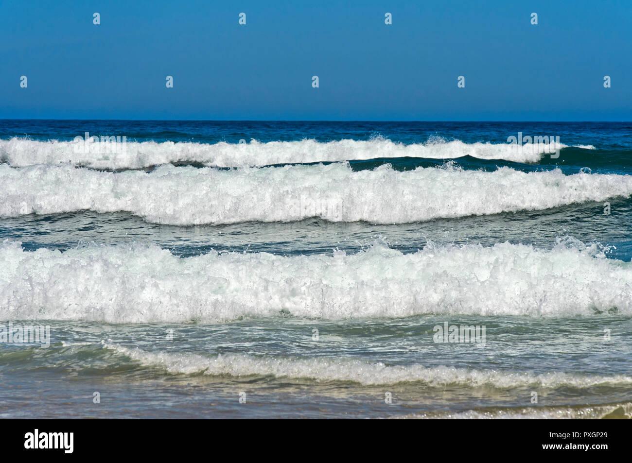 Breakers at the Costa Vicentina coast, Vila do Bispo, Portugal - Stock Image