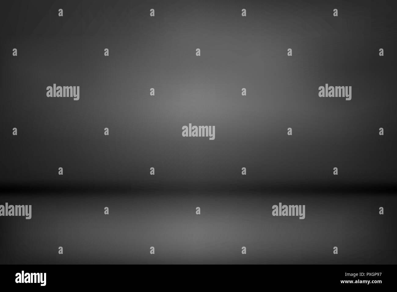 dark and black gradient studio and room background vector. - Stock Vector