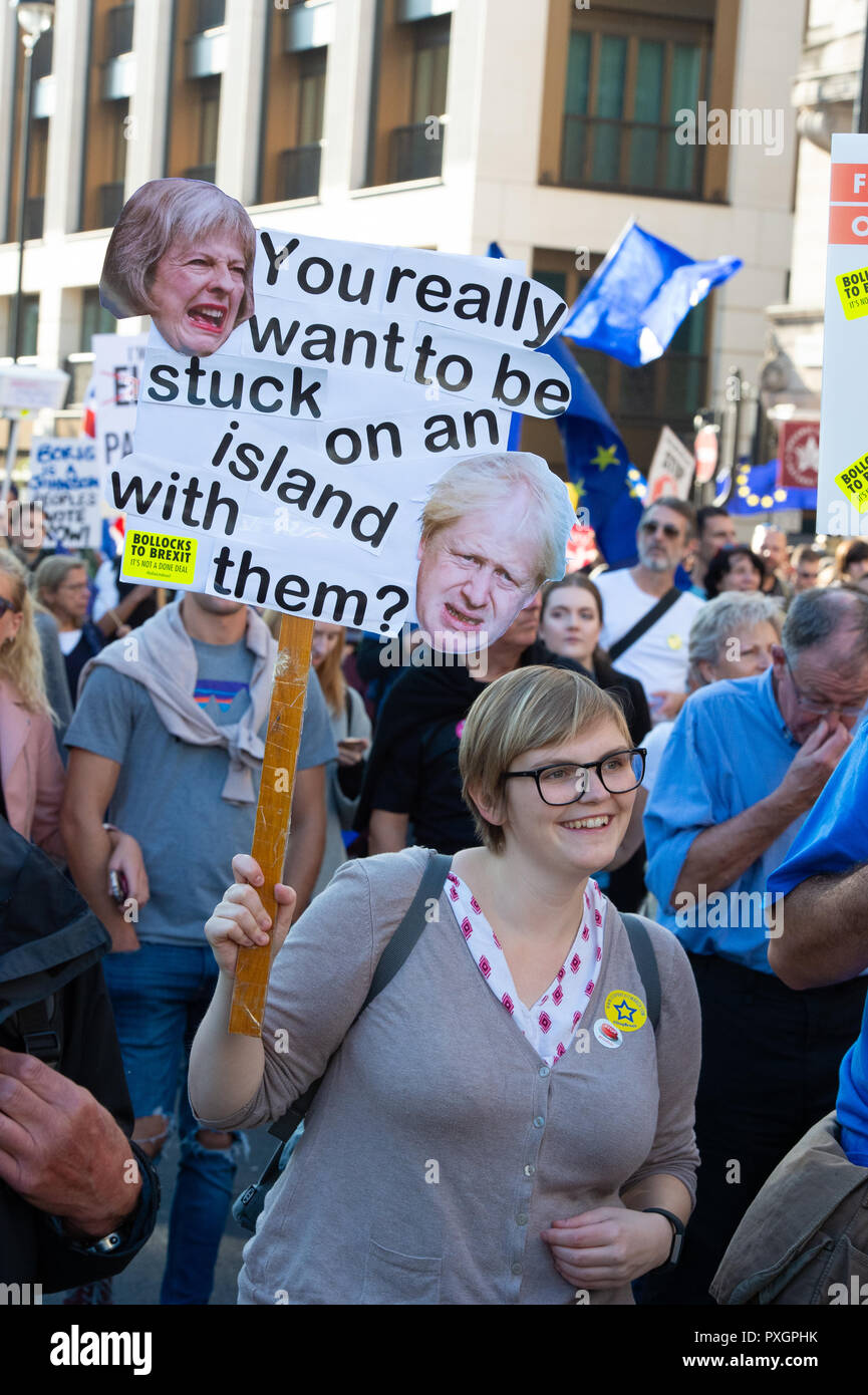 Brexit March October 2018 - Stock Image