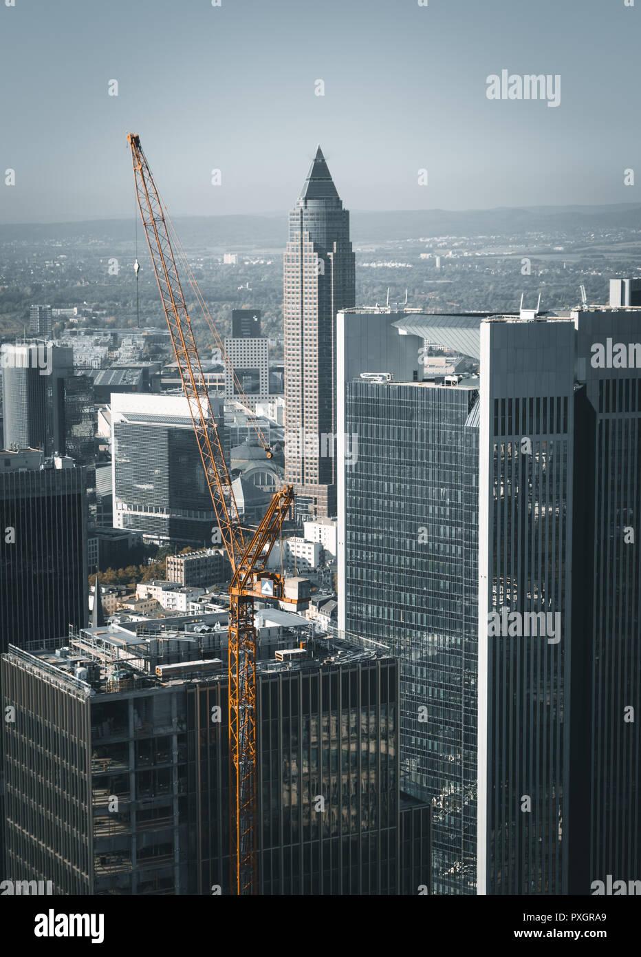 Frankfurt Messeturm Stock Photo
