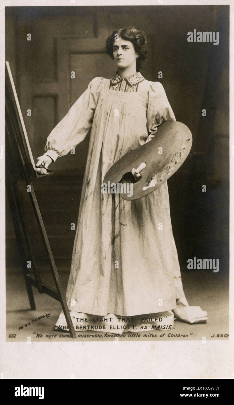 """""""The Light That Failed"""" a play version of the novel by Rudyard Kipling (written by George Fleming) - Actress Miss Gertrude Elliott (1874-1950), later wife of Sir Johnston Forbes-Robertson in the role of Maisie     Date: 1903 - Stock Image"""