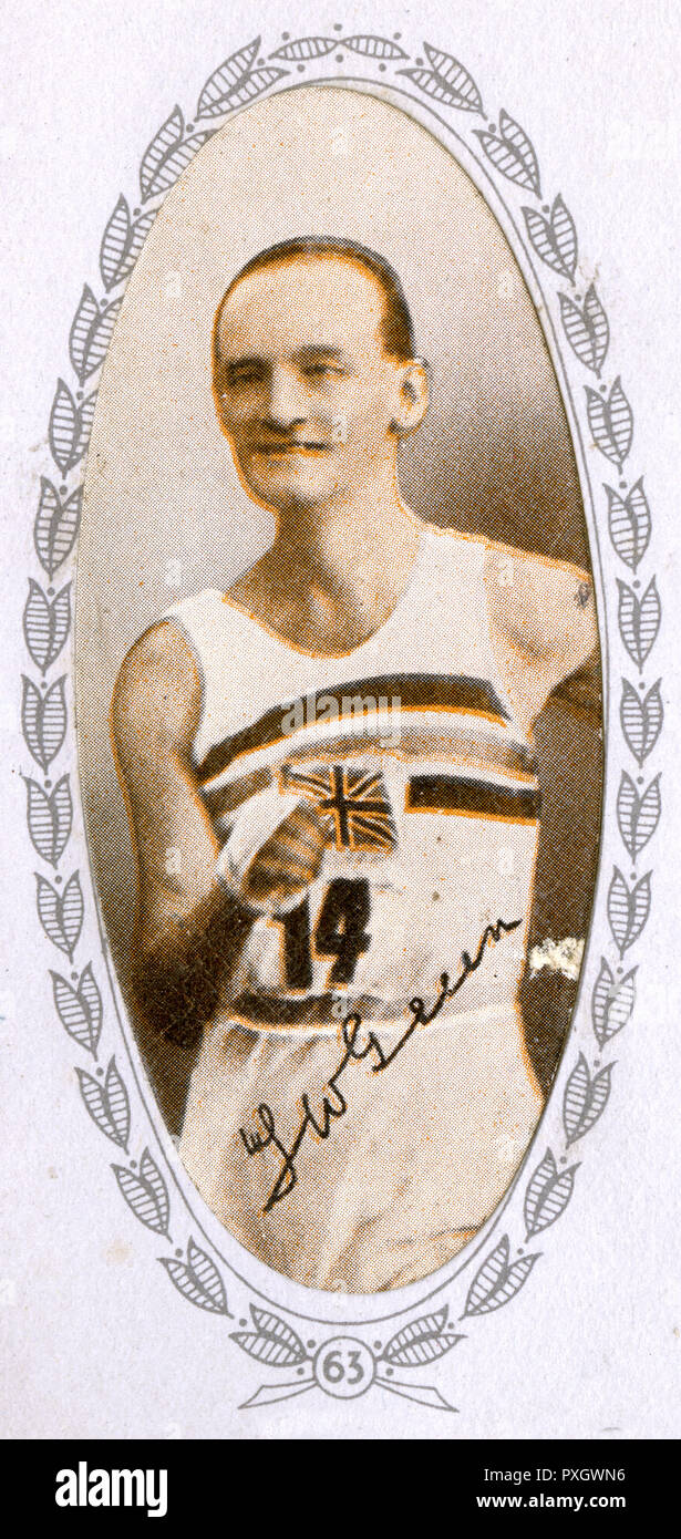 Thomas William Green (18941975) - British racewalker who won a gold medal in the men's 50km walk at the 1932 Summer Olympics.     Date: 1935 - Stock Image