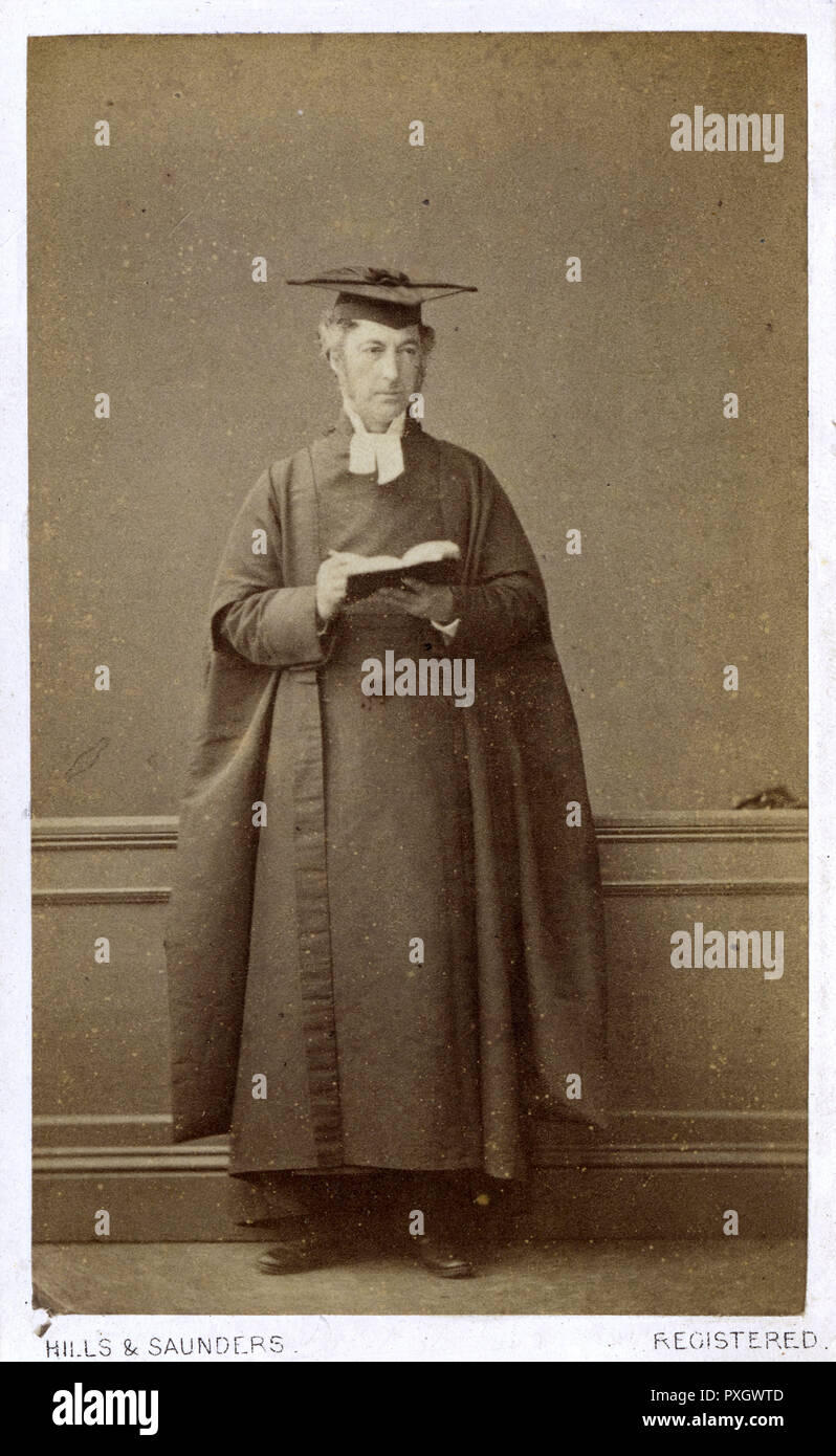 Edward Balston (18171891) - English schoolmaster, Church of England cleric, head master of Eton College from 1862 to 1868 and later Rector of Hitcham, Buckinghamshire, Vicar of Bakewell, Derbyshire, and Archdeacon of Derby. Questioned by the Clarendon Commission on 9 July 1862, Balston came under attack for his view that in the classroom little time could be spared for subjects other than classical studies!!     Date: 1864 - Stock Image
