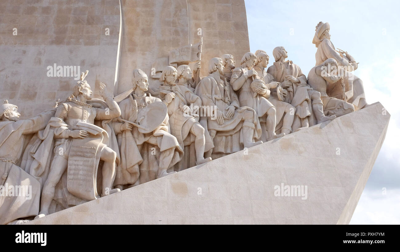The Monument to the Discoveries , Lisbon,Portugal. - Stock Image