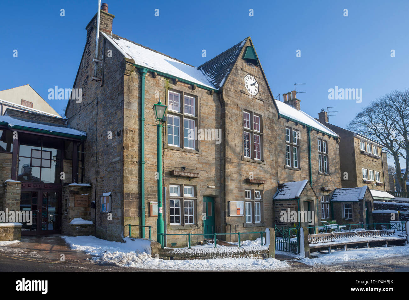 The Devonshire Institute and Town Hall at Grassington in North Yorkshire Stock Photo