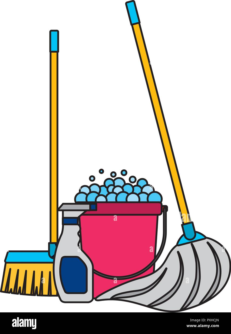Cleaning Equipment Related Stock Vector Art Amp Illustration