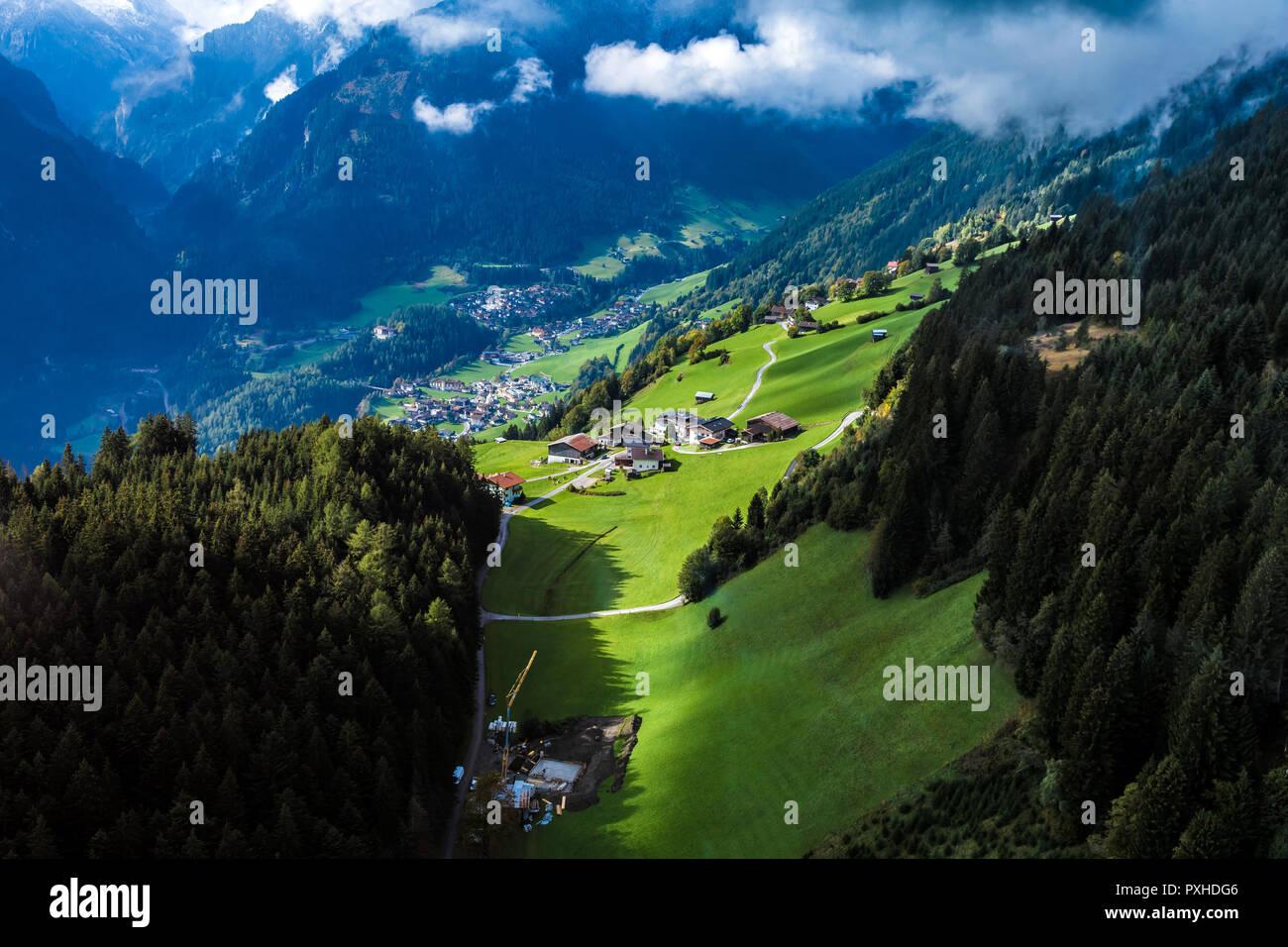 Ski resort in Mayrhofen, Austria - Stock Image