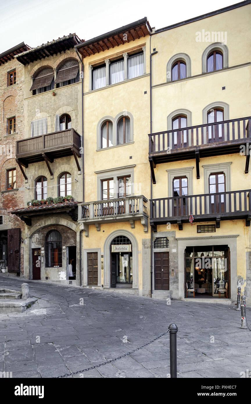 Italy, Arezzo Piazza Grande Stock Photo