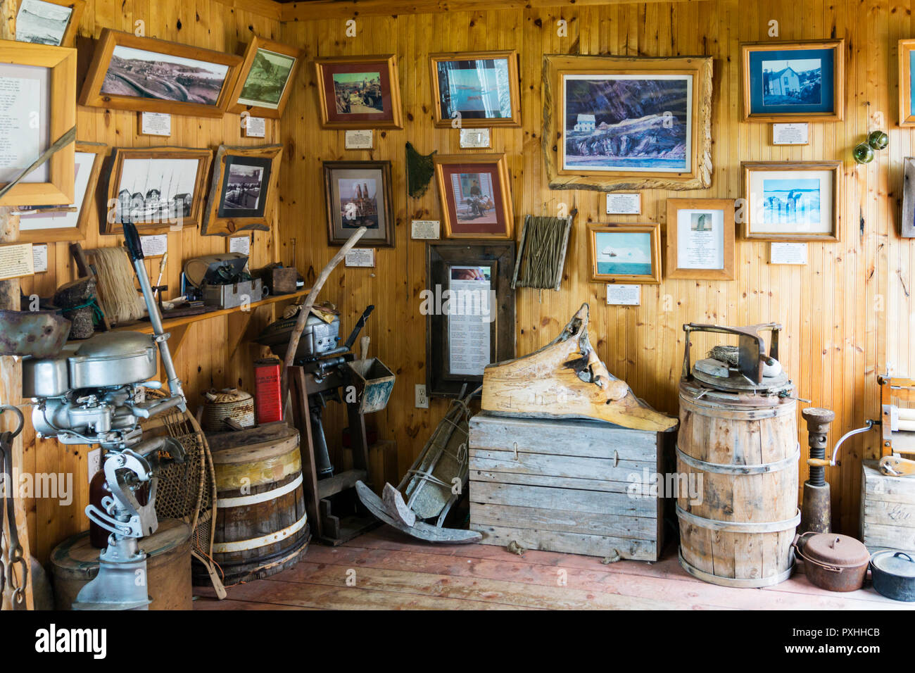 The Prime Berth fishery & heritage centre, near Twillingate, Newfoundland. - Stock Image