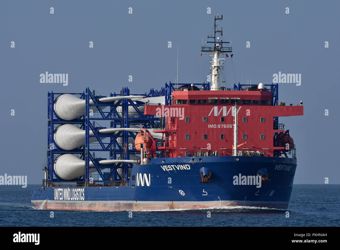 Deck cargo ship VestvindStock Photo