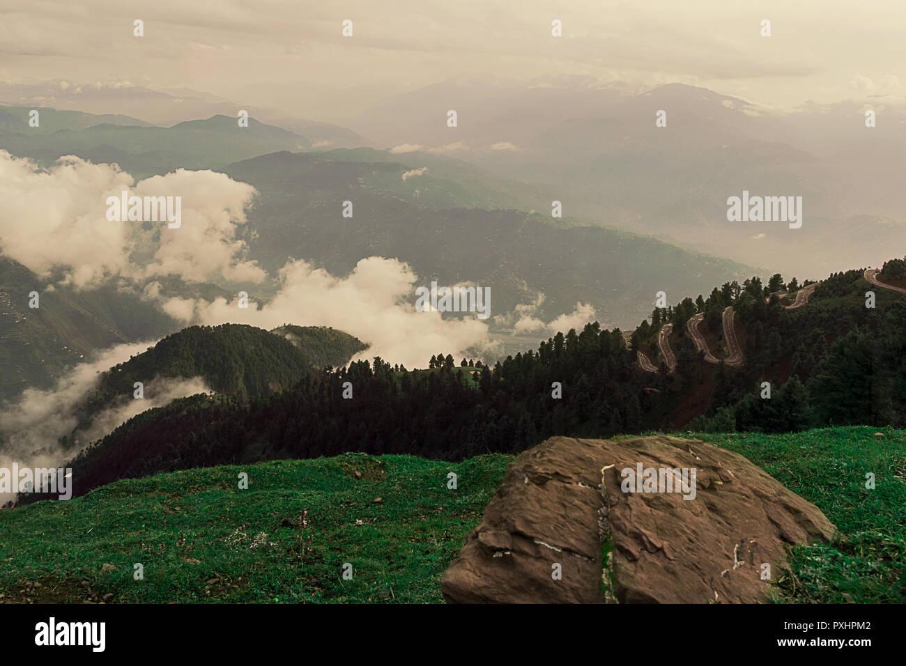 Beautiful peaks of Pir Chinasi, Pakistan. Taken on 15th Sep, 2018 - Stock Image
