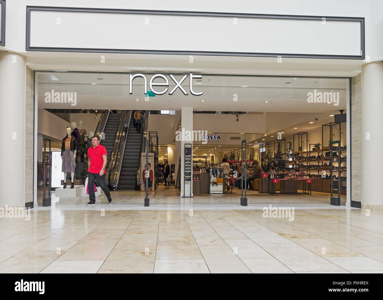 f33eb8e756c2 Next retail store at Gateshead Metrocentre with Costa coffee outlet ...