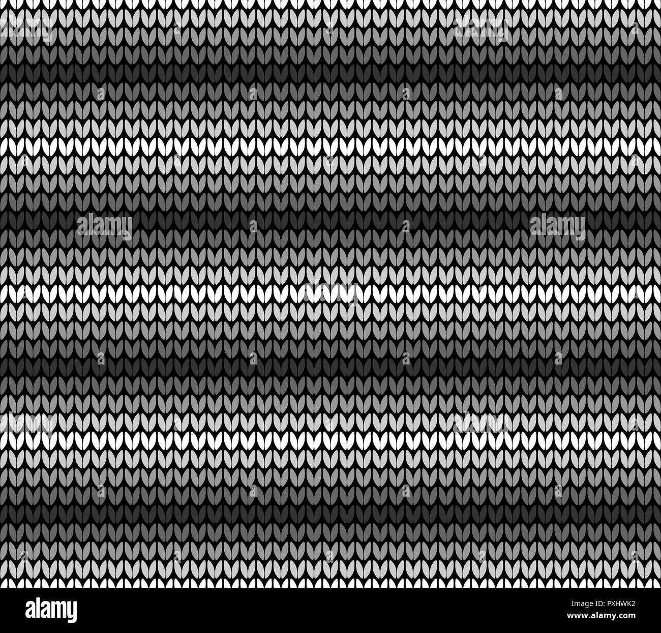 Abstract black gray and white seamless knitting pattern background - Stock Vector