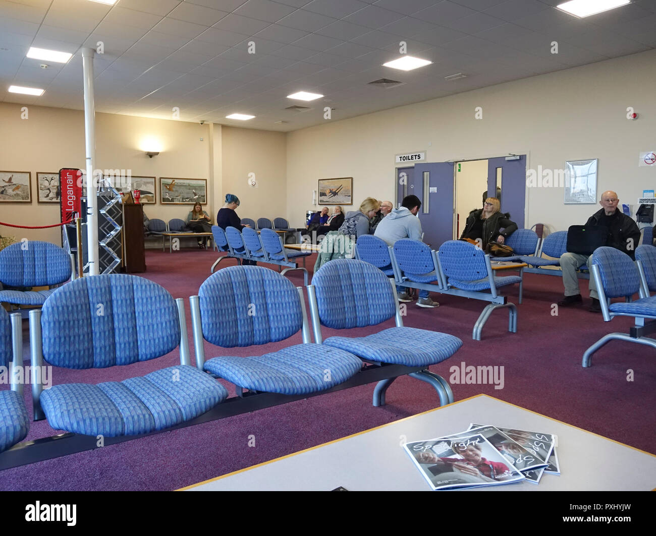 Departure Lounge Kirkwall Airport Orkney - Stock Image