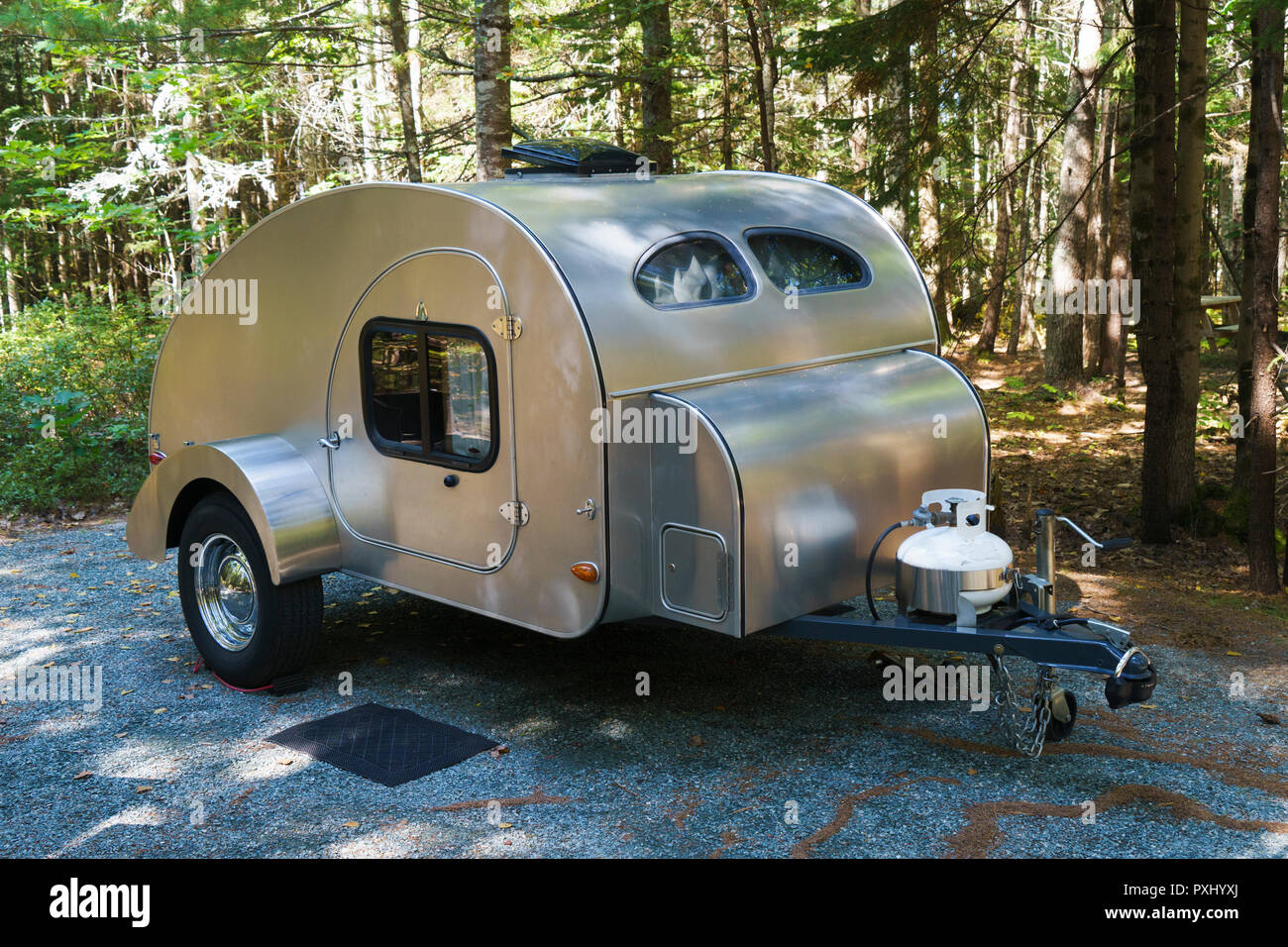 Teardrop Trailer Stock Photos & Teardrop Trailer Stock