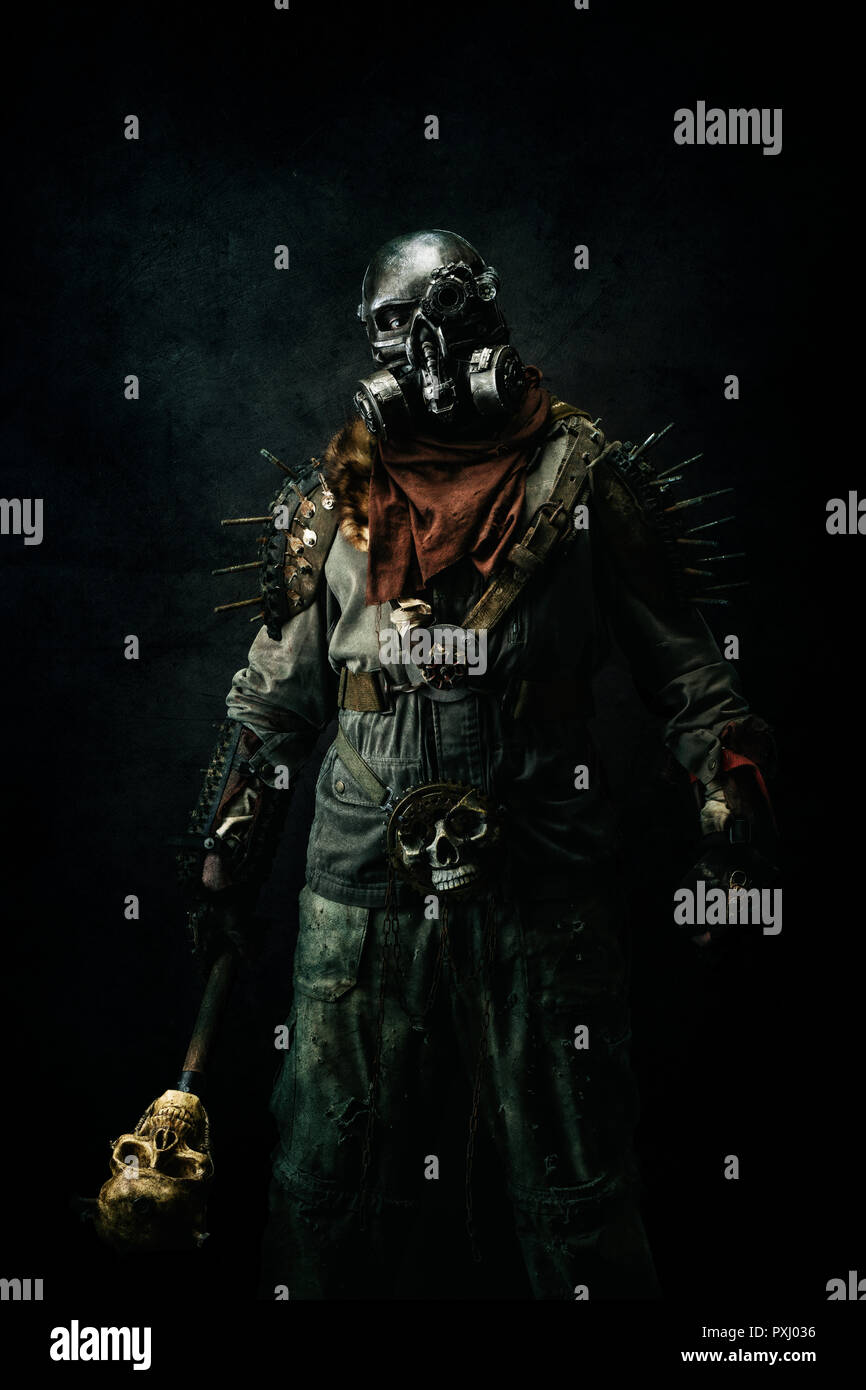 Portrait of a post apocalyptic warrior Stock Photo