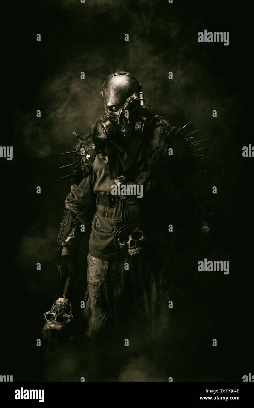 Portrait of a post apocalyptic warrior Stock Photo