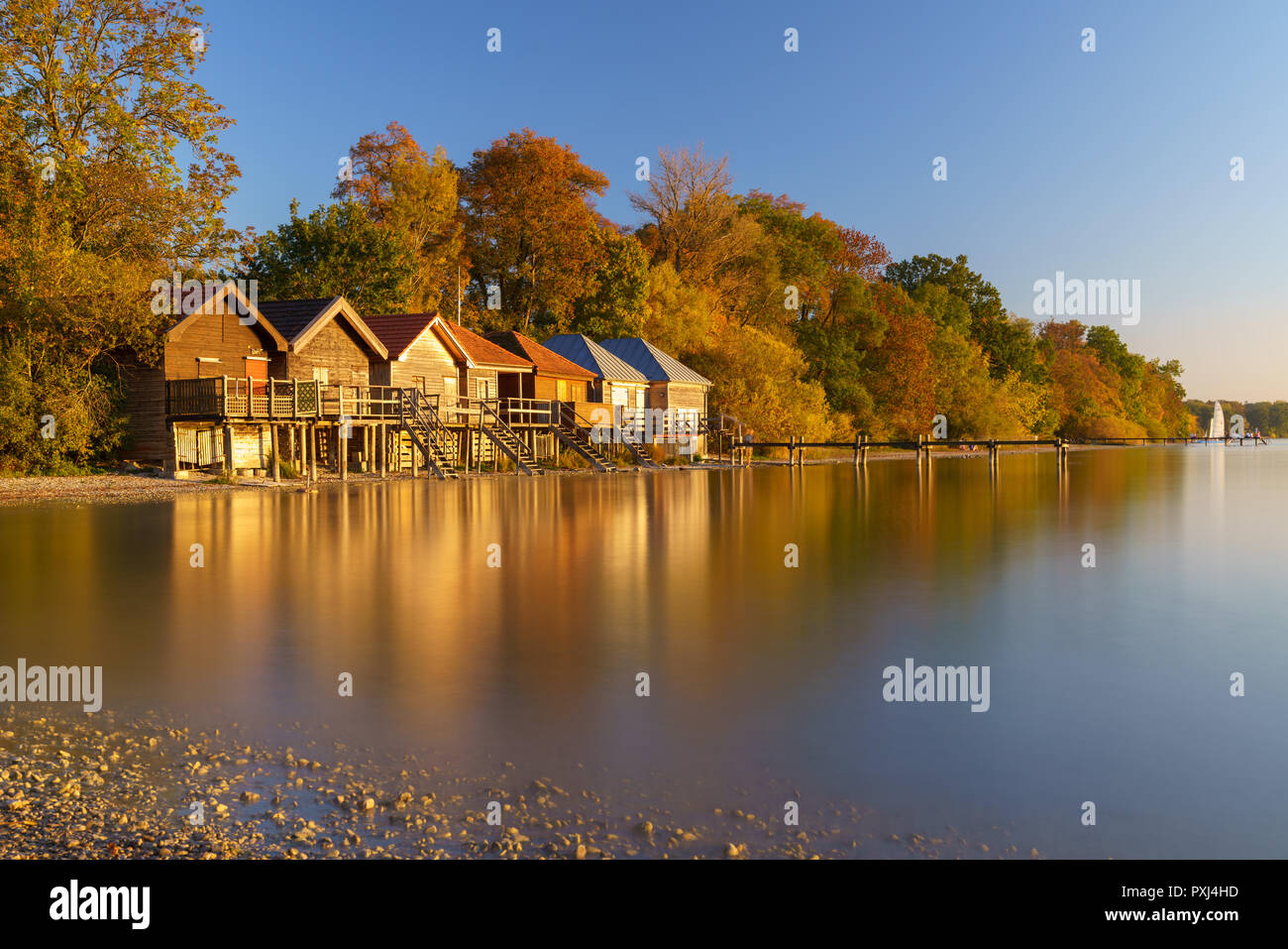 Sunset at Ammersee - Stock Image