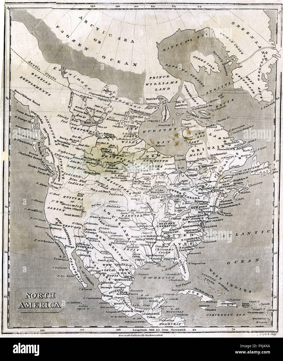 A Fascinating Map Of North America From The Russian Settlements