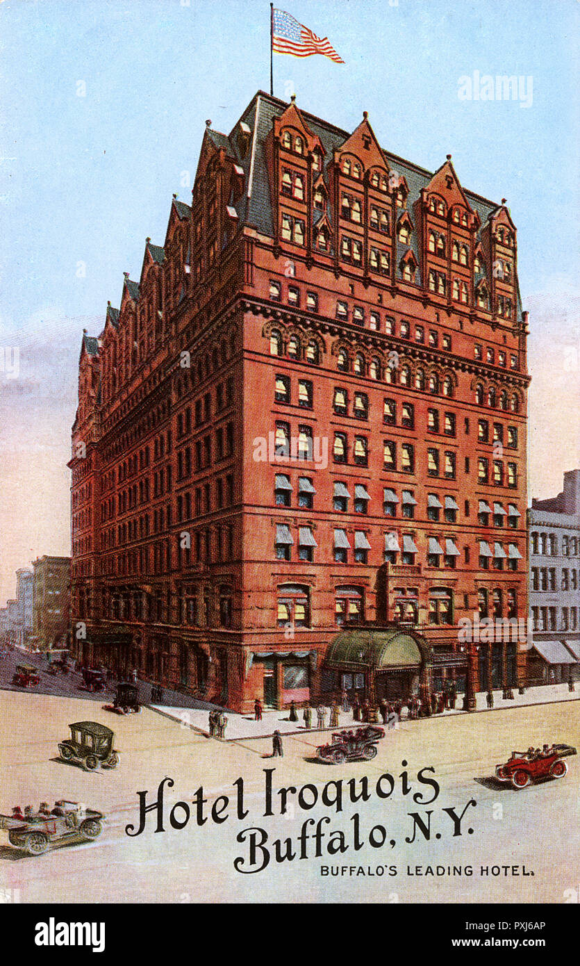 Hotel Iroquois Buffalo New York Usa Quot Buffalo S Leading Hotel Quot Erected In 1889 And Demolished In 1940 Date 1914 Stock Photo Alamy