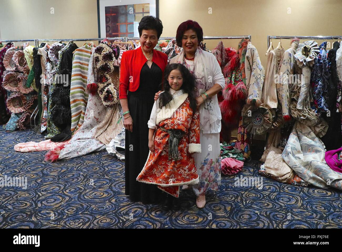 She Guang Hu Haute Couture Show in Natural History 2018 Stock Photo