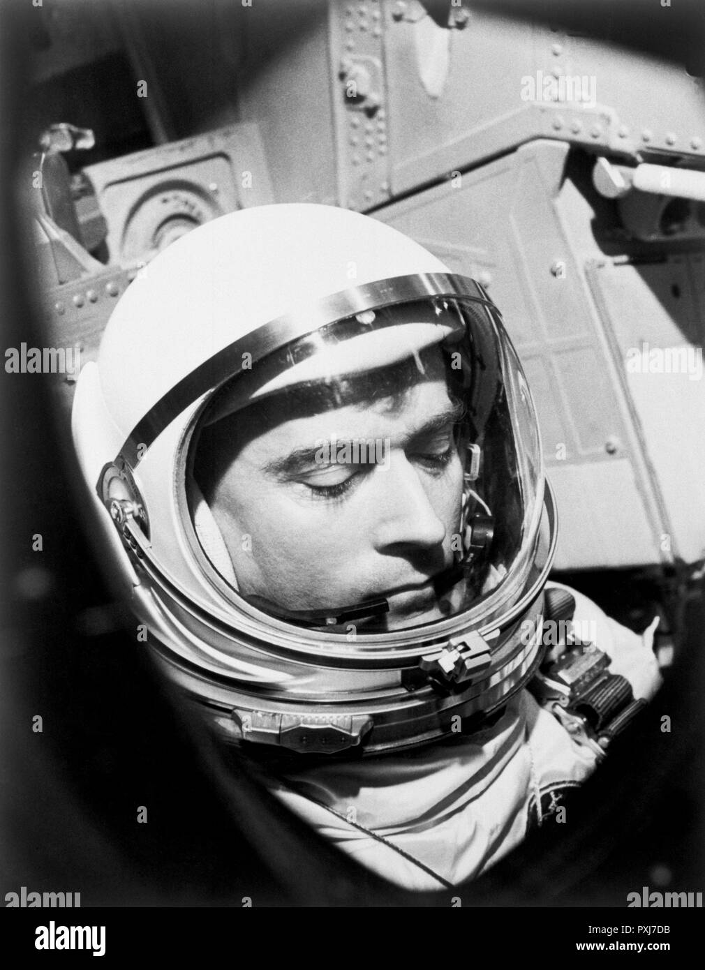 John W. Young (1930-2018), NASA's longest-serving astronaut and the only astronaut to fly missions in the Gemini, Apollo and Space Shuttle Programs. - Stock Image