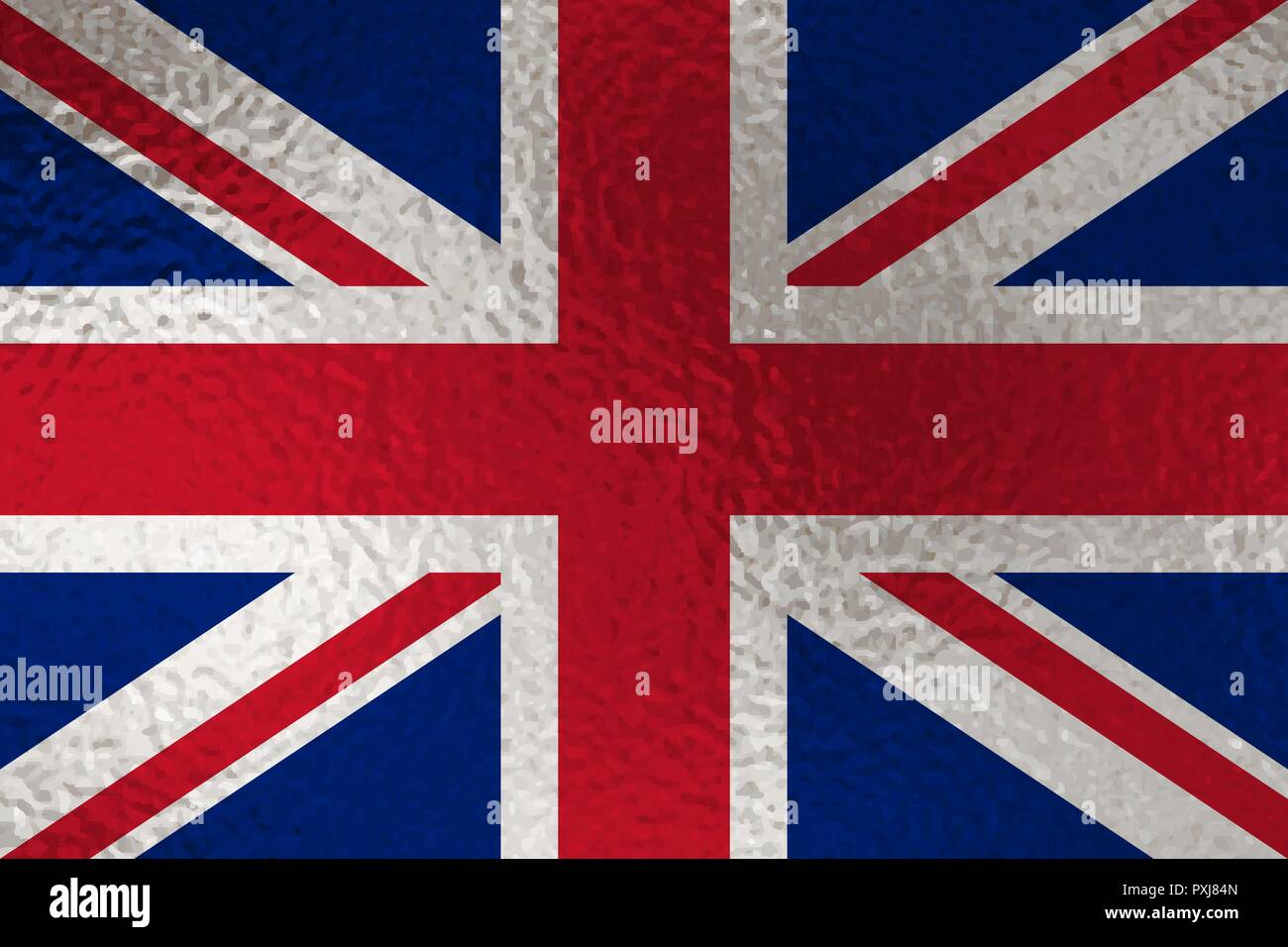 Flag of United Kingdom with glass effect. Vector illustration - Stock Vector