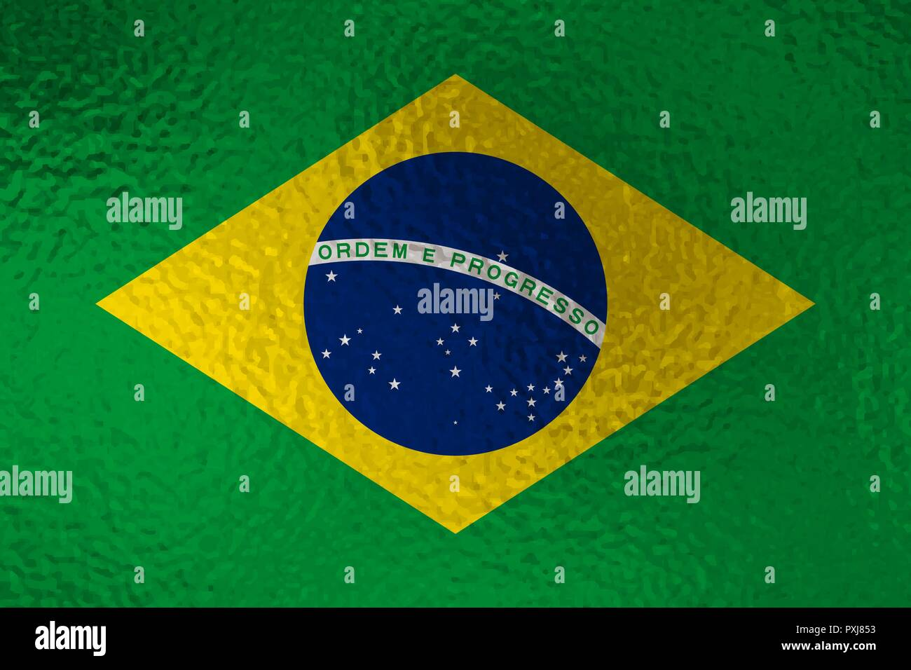 Flag of Brazil with glass effect. Vector illustration - Stock Vector