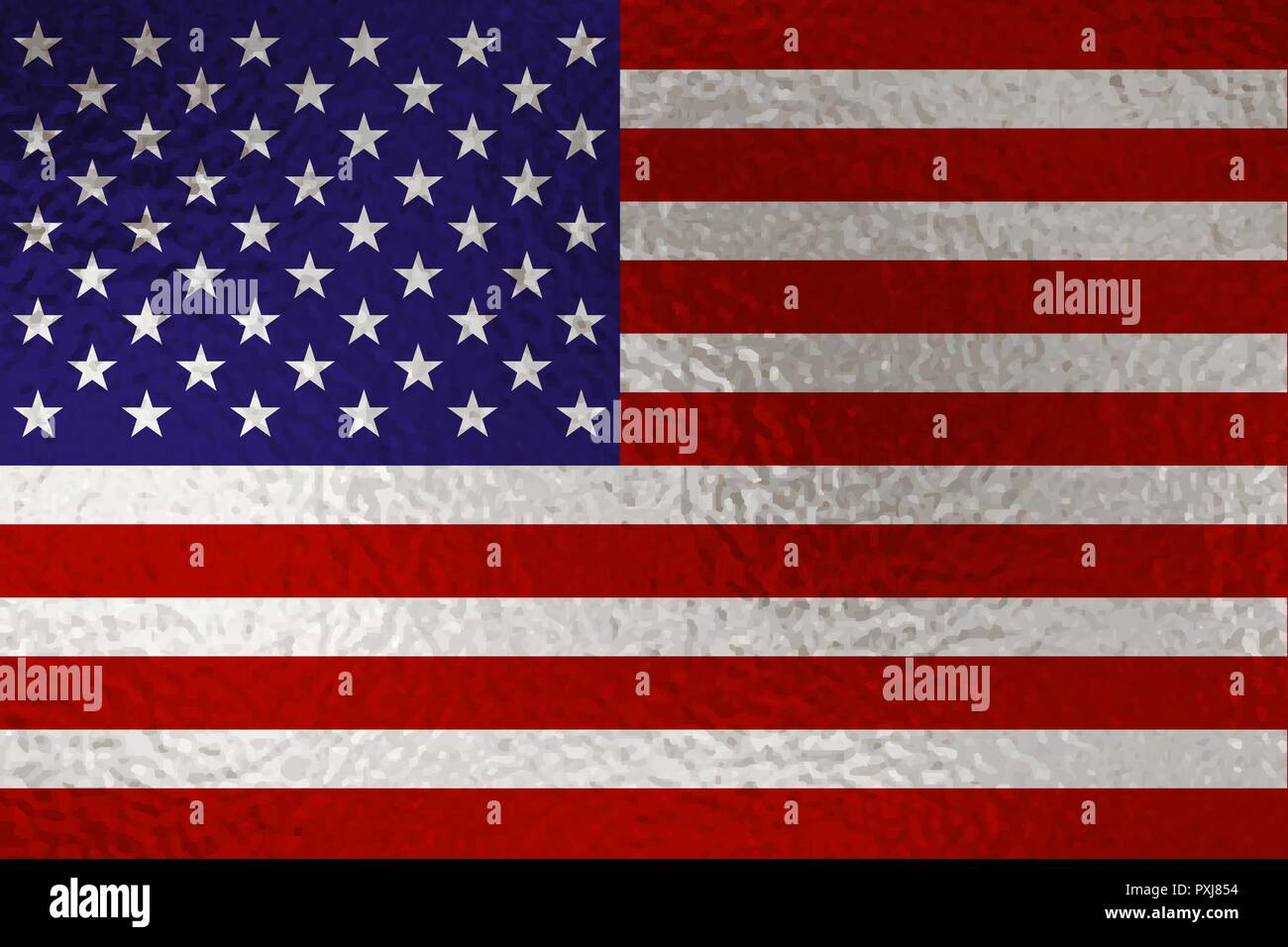 Flag of United States with glass effect. Vector illustration - Stock Vector