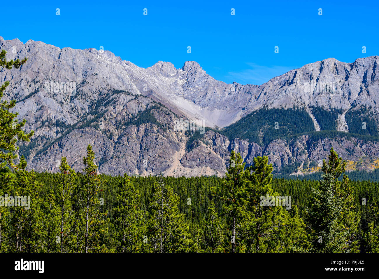 amazing scenery in the Rockies Stock Photo