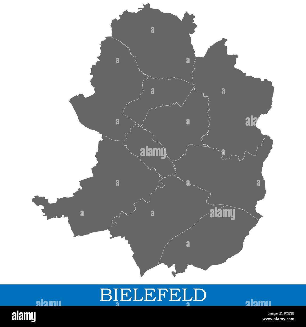 High Quality Map Of Bielefeld Is A City Of Germany With Borders