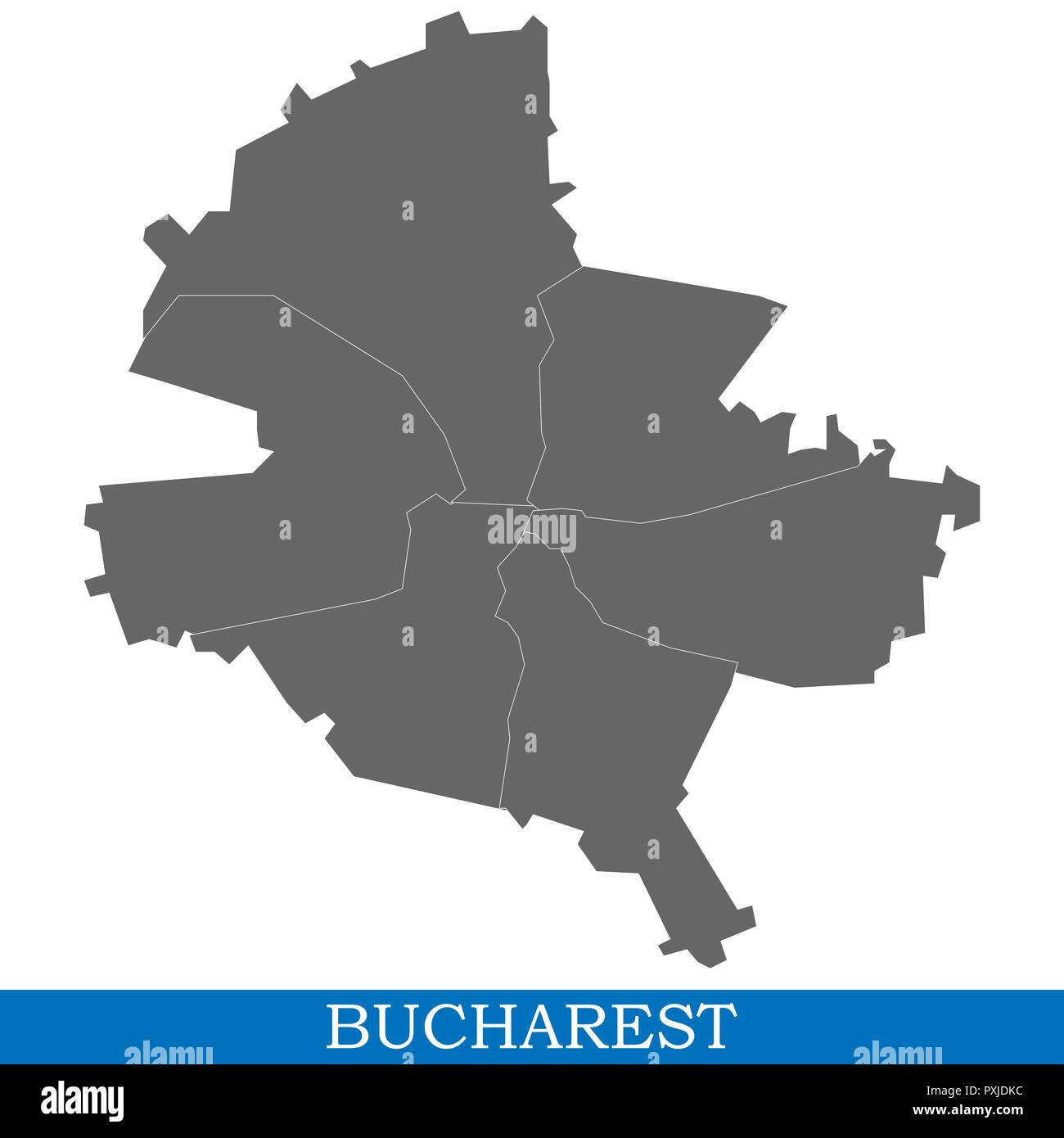 High Quality Map Of Bucharest Is A City In Romania With Borders